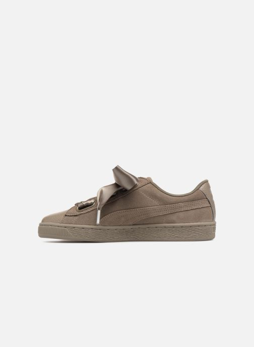 Sneakers Puma Suede Heart Bubble Wn's Verde immagine frontale