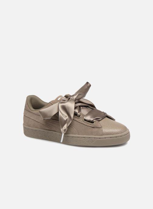 Sneakers Puma Suede Heart Bubble Wn's Verde vedi dettaglio/paio