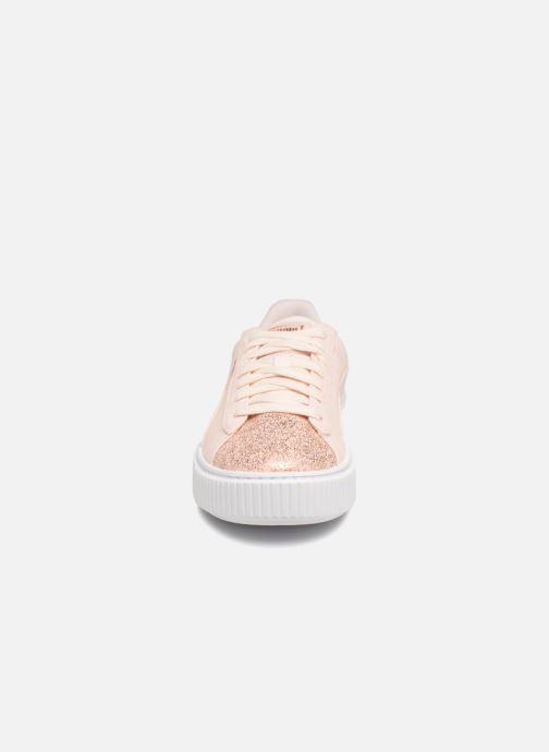 Baskets Puma Basket Platform Canvas Wn's Rose vue portées chaussures