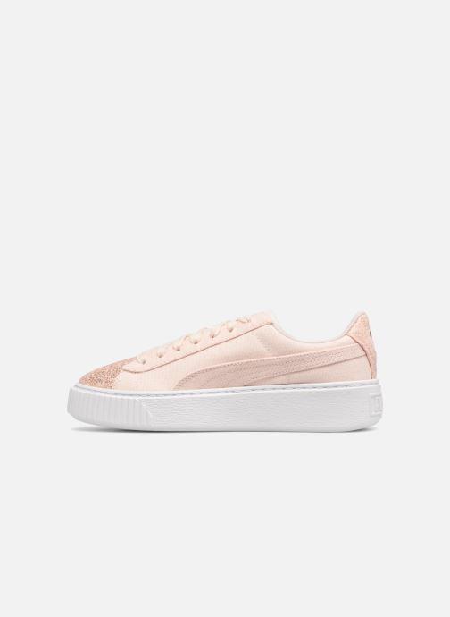 Sneaker Puma Basket Platform Canvas Wn's rosa ansicht von vorne