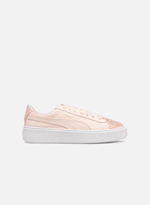 Sneaker Puma Basket Platform Canvas Wn's rosa ansicht von hinten