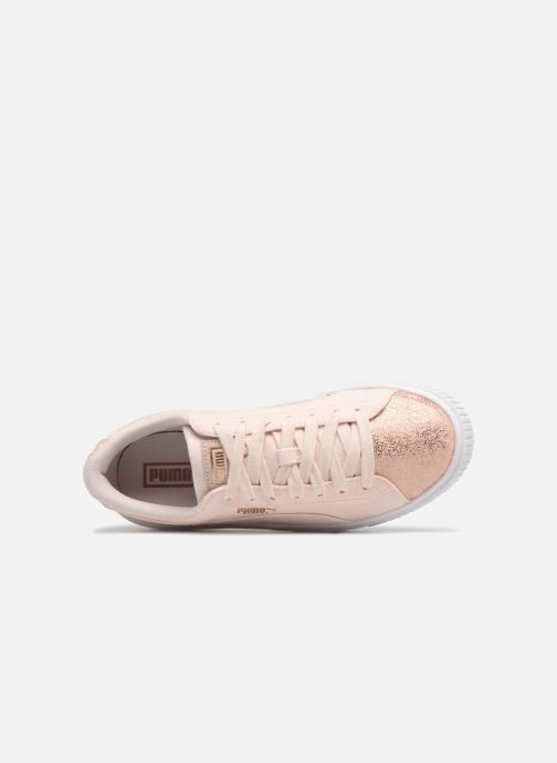 Sneaker Puma Basket Platform Canvas Wn's rosa ansicht von links