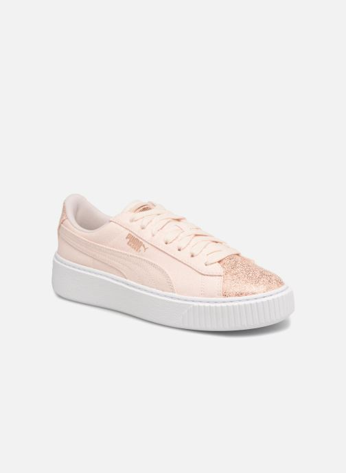 Baskets Puma Basket Platform Canvas Wn's Rose vue détail/paire