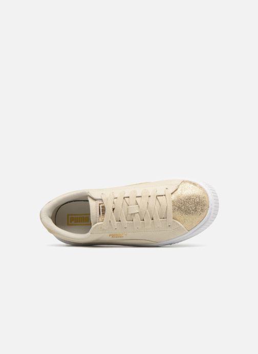 Sneakers Puma Basket Platform Canvas Wn's Oro e bronzo immagine sinistra