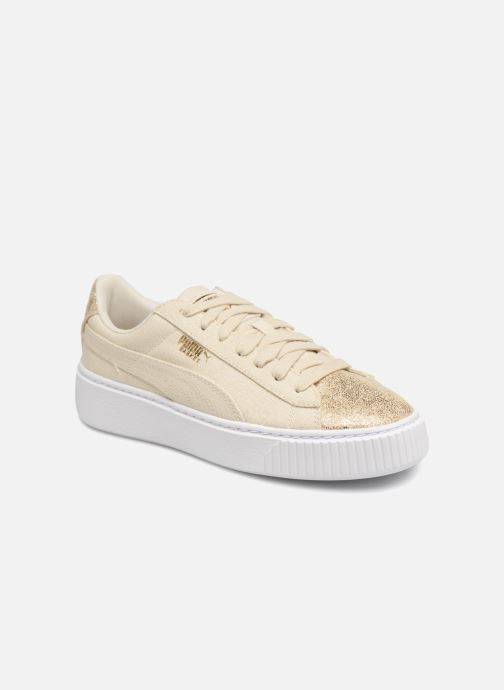 Sneakers Puma Basket Platform Canvas Wn's Goud en brons detail