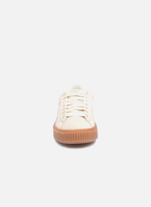 Baskets Puma Suede Platform Bubble Wn's Gris vue portées chaussures