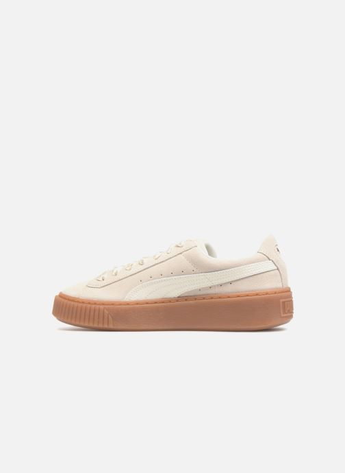 Baskets Puma Suede Platform Bubble Wn's Gris vue face