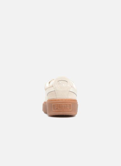 Sneaker Puma Suede Platform Bubble Wn's grau ansicht von rechts