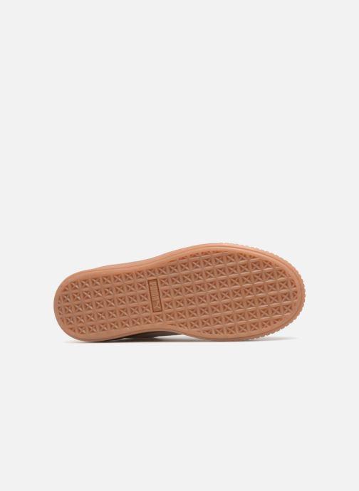 Sneaker Puma Suede Platform Bubble Wn's grau ansicht von oben