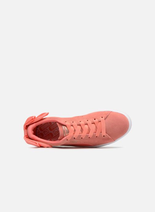 Baskets Puma Suede Bow Wn's Rose vue gauche