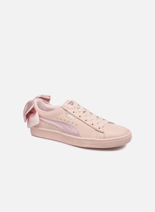 buy online 8a885 df262 Baskets Puma Basket Bow Wn s Rose vue détail paire