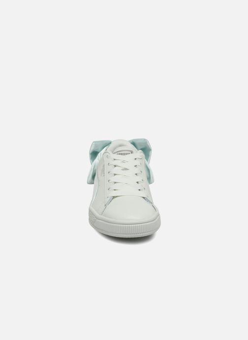 Sneakers Puma Basket Bow Wn's Azzurro modello indossato