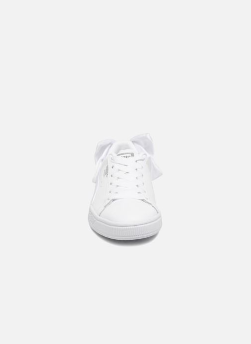 Sneaker Puma Basket Bow Wn's weiß schuhe getragen