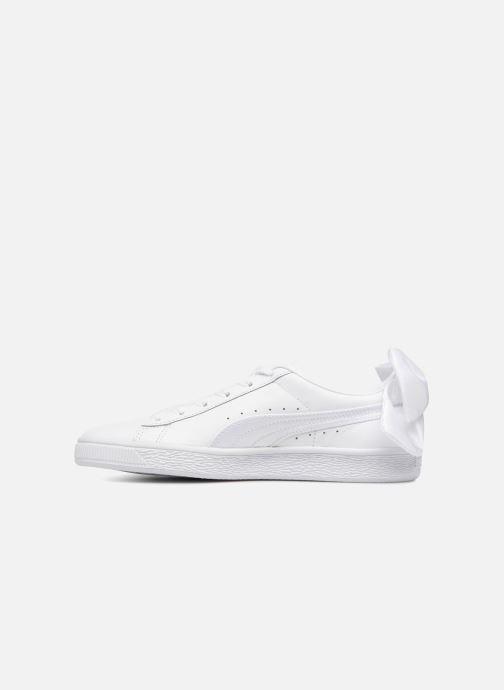 Sneaker Puma Basket Bow Wn's weiß ansicht von vorne
