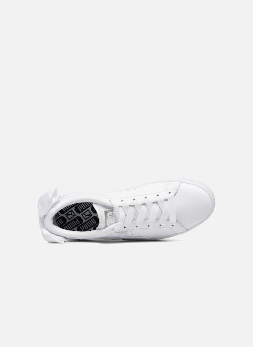Sneaker Puma Basket Bow Wn's weiß ansicht von links