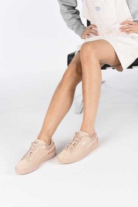 Sneakers Puma Suede LunaLux Wn's Rosa immagine dal basso
