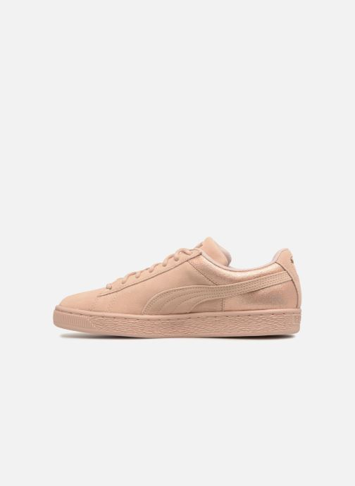Sneakers Puma Suede LunaLux Wn's Rosa immagine frontale