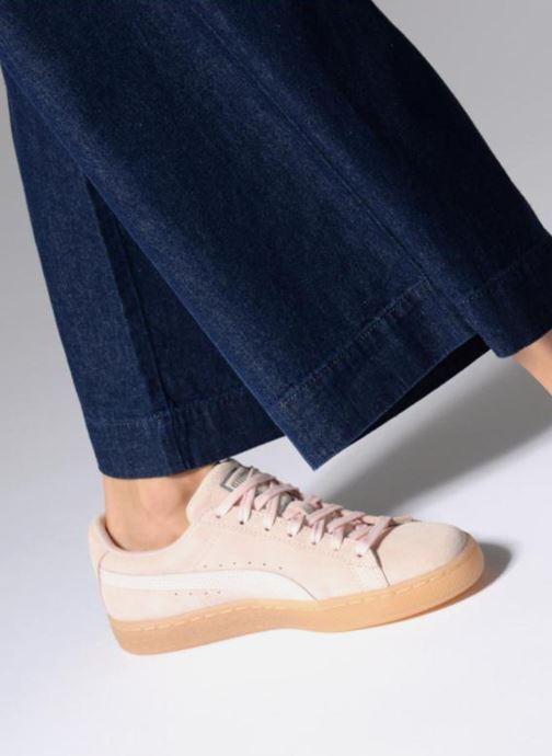 Sneakers Puma Suede Classic Bubble Wn's Rosa immagine dal basso