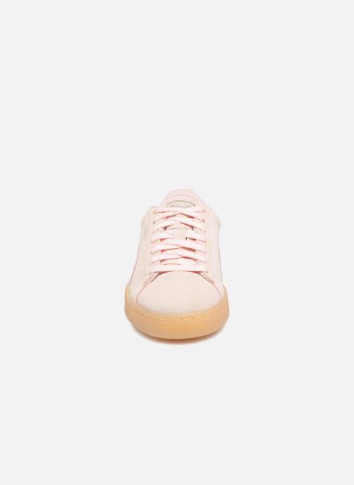 Baskets Puma Suede Classic Bubble Wn's Rose vue portées chaussures