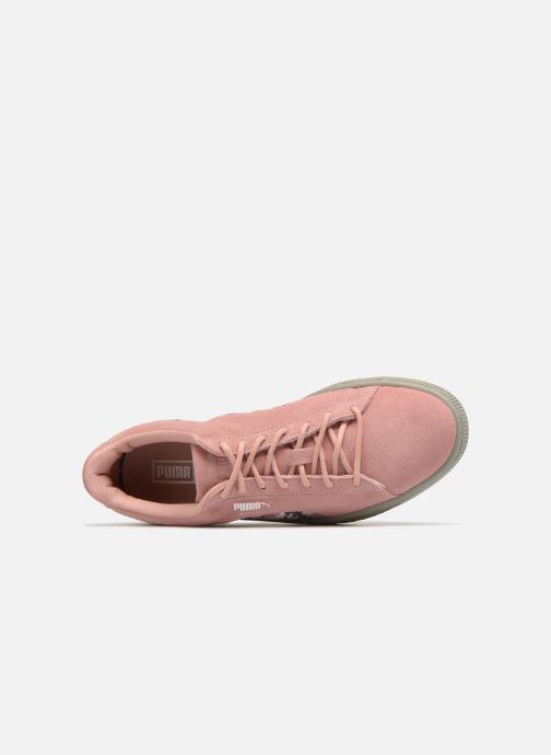 Sneakers Puma B Suede Sunfade Stitch Wn's Rosa immagine sinistra
