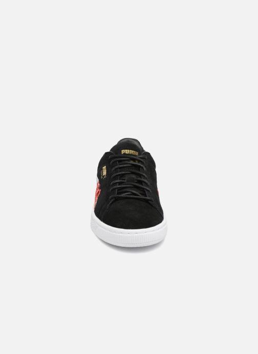 Baskets Puma Suede Hyper Embelished Wn's Noir vue portées chaussures