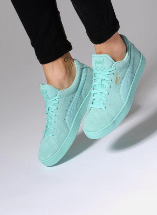 Sneakers Puma Suede S Wns Azzurro immagine dal basso