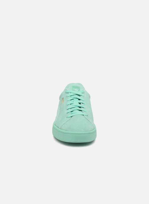 Sneakers Puma Suede S Wns Azzurro modello indossato