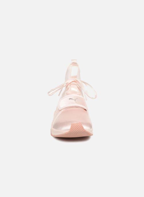 Baskets Puma Phenom Satin EP Wn's Rose vue portées chaussures