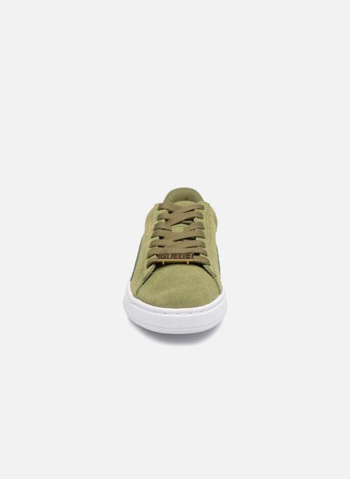 Baskets Puma Suede Classic B-BOY Fabulous Vert vue portées chaussures