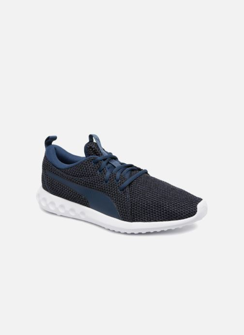 more photos 54ad2 1e3e3 Baskets Puma Carson 2 Nature Knit Bleu vue détail paire