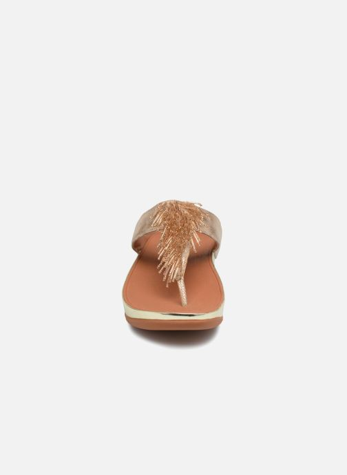 Mules et sabots FitFlop Cha Cha Shimmer Or et bronze vue portées chaussures