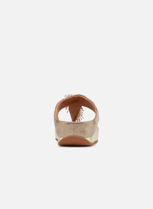 Mules et sabots FitFlop Cha Cha Shimmer Or et bronze vue droite