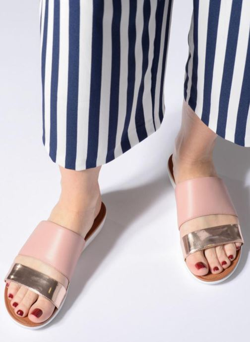 Mules & clogs FitFlop Delta Slide Sandal Bronze and Gold view from underneath / model view