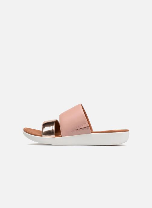Mules & clogs FitFlop Delta Slide Sandal Bronze and Gold front view