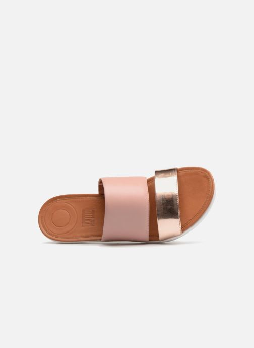 Mules & clogs FitFlop Delta Slide Sandal Bronze and Gold view from the left