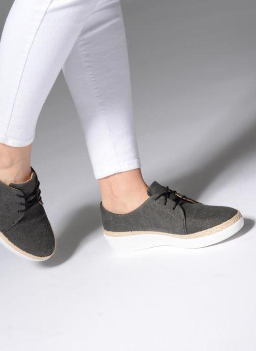 Zapatos con cordones FitFlop Superderby Shimmer Negro vista de abajo