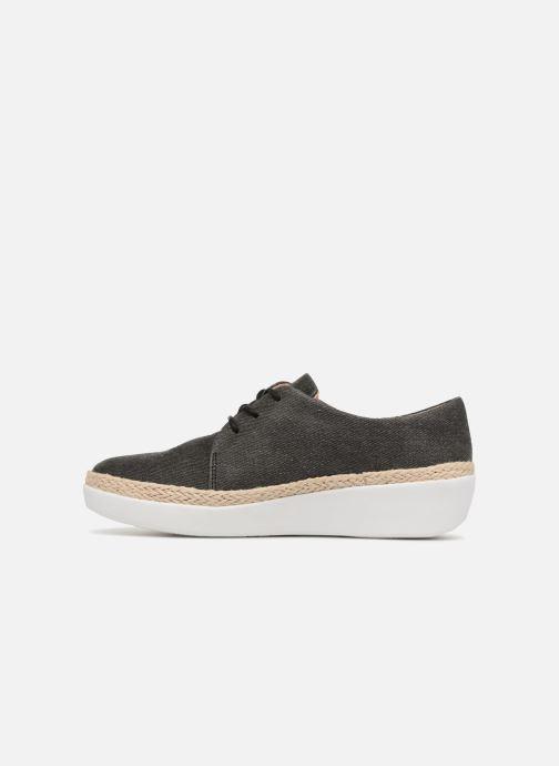 Zapatos con cordones FitFlop Superderby Shimmer Negro vista de frente