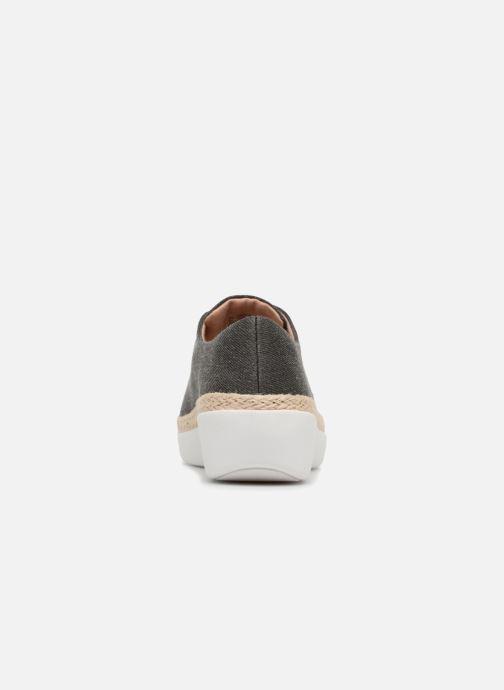Zapatos con cordones FitFlop Superderby Shimmer Negro vista lateral derecha