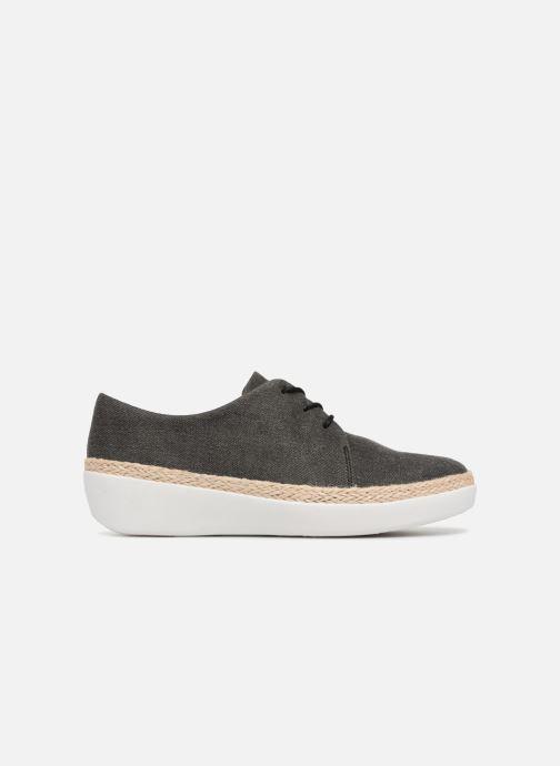 Zapatos con cordones FitFlop Superderby Shimmer Negro vistra trasera