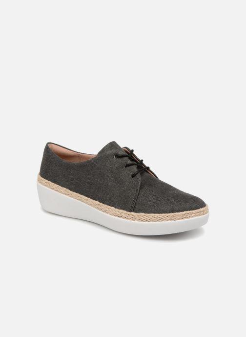 Zapatos con cordones FitFlop Superderby Shimmer Negro vista de detalle / par