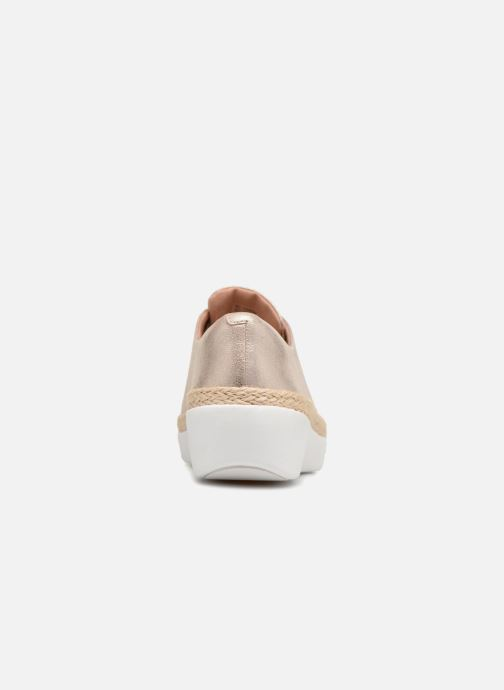 Lace-up shoes FitFlop Superderby Leather Silver view from the right
