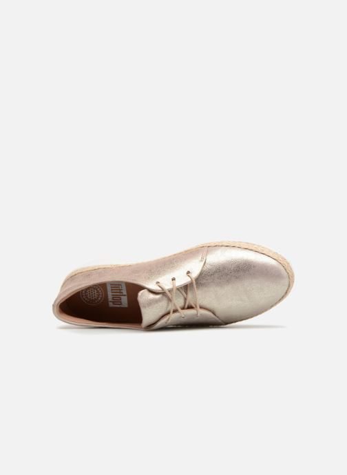 Lace-up shoes FitFlop Superderby Leather Silver view from the left