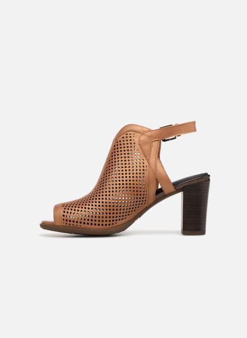 Zapatos de tacón Rockport TM Trixie Perf Shoot Marrón vista de frente