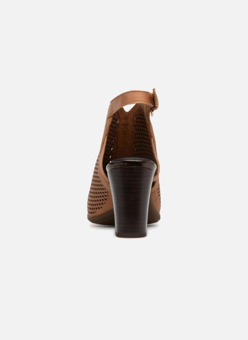 Zapatos de tacón Rockport TM Trixie Perf Shoot Marrón vista lateral derecha