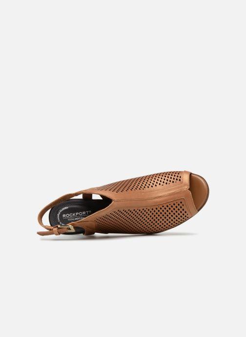 Zapatos de tacón Rockport TM Trixie Perf Shoot Marrón vista lateral izquierda