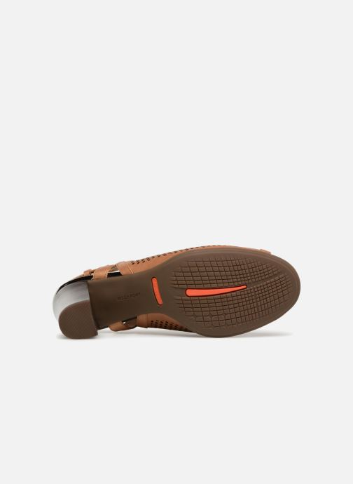 Zapatos de tacón Rockport TM Trixie Perf Shoot Marrón vista de arriba