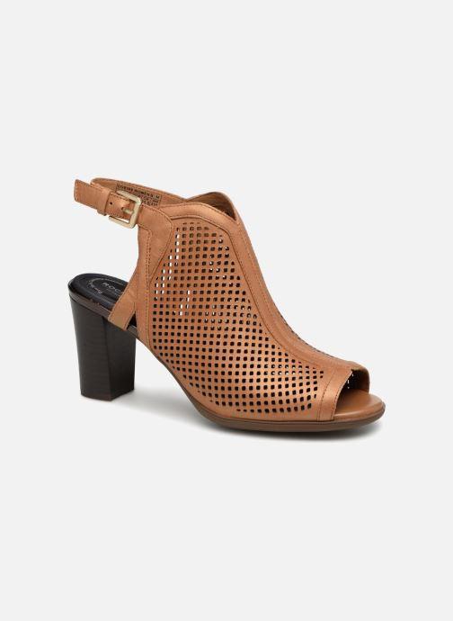 Zapatos de tacón Rockport TM Trixie Perf Shoot Marrón vista de detalle / par