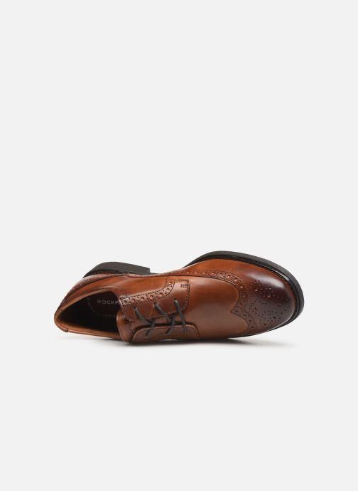 Chaussures à lacets Rockport Madson Wingtip C Marron vue gauche