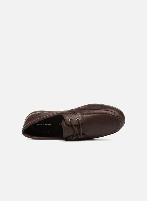 Scarpe con lacci Rockport Bl4 Boat Shoe Marrone immagine sinistra
