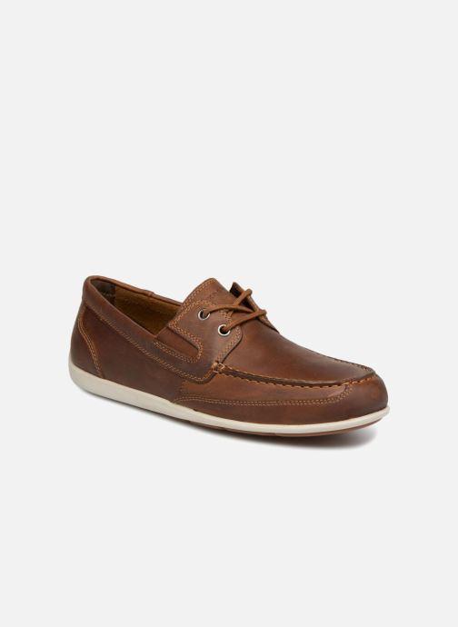Chaussures à lacets Rockport Bl4 Boat Shoe Marron vue détail/paire